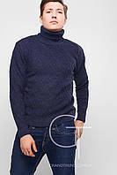 Мужской вязаный свитер с высоким горлом