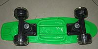 Скейт 5822-5, металлическое крепление со светящимися колесами