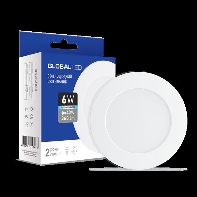 LED светильник GLOBAL SPN 6W яркий свет (1-SPN-004)