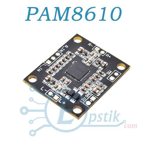 PAM8610, двух канальный аудио усилитель 2*15 Вт
