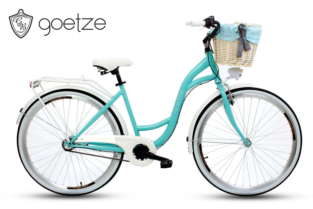 Женский городской велосипед GOETZE Style LTD 28 3 скорости + корзина