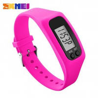 Фитнес браслет с часами Skmei Fitness Pink