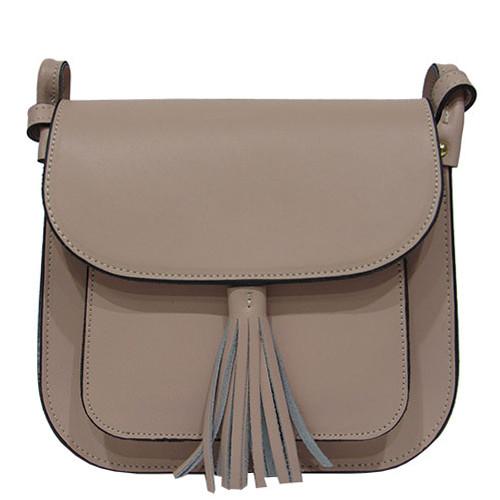 7743cdfec10b Женская сумка Felicita 453 из натуральной кожи фабричная итальянская  пудрового цвета