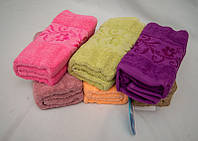 Банное махровое полотенце Мелкие цветы Турция Размер 140х70 6 шт в уп. 100% хлопок