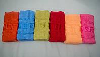 Банное махровое полотенце Листья Турция Размер 140х70 6 шт в уп. 100% хлопок, фото 1