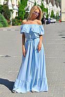 Роскошное бежевое платье из шифон-шёлка с поясом и рюшами.