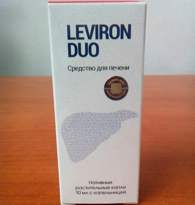 Средство для восстановления и очищения печени Leviron Duo (Левирон Дуо), фото 2