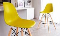 Стул барный Eames bar DSW желтый сверхпрочный пластик ABS, дизайн Charles & Ray Eames