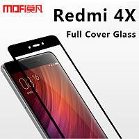 Защитное стекло Xiaomi Redmi 4Х black 3D стекло на весь экран