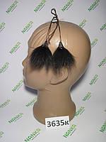 Меховые кисточки Лиса, Шоколад, 7 см, 3635к, фото 1