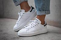 Черно-белые женские кроссовки Adidas Stan Smith 18