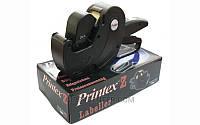 Однострочный этикеточный пистолет Printex Z6 Maxi (6 символов 3х8 мм) + набор 10 тыс. этикеток и крас. валик