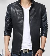 Мужская кожаная куртка. Модель 61122
