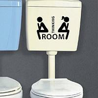 Наклейка стикер WC на унитаз,дверь 10см*7см