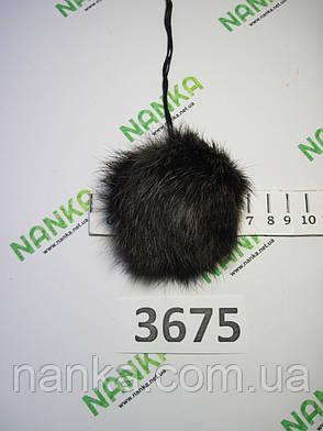 Меховой помпон Кролик, Шоколадный, 7 см, 3675, фото 2