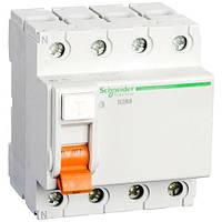 Дифференциальное реле Schneider-Electric Домовой ВД63 4P 40A 300МA