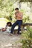 Мужские спортивные брюки утепленные темно-синие 032-АZ, фото 4