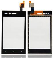 Сенсор (тачскрин) для Sony ST23i Xperia Miro черный