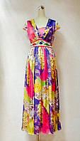 Платье Anna Sui шелк цветное длинное