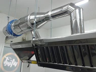 Монтаж кухонной вентиляции с жироулавливателями г.Запорожье