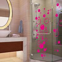 Наклейка Пузыри в ванную , стену, стекло водонепроницаемая 45*20см