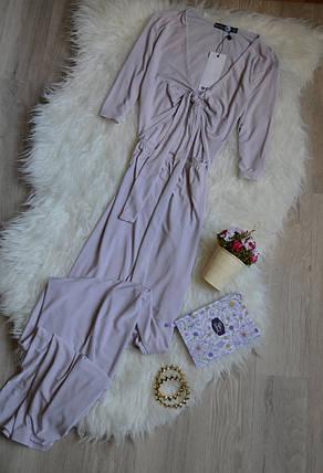 Новое макси платье с вырезом Boohoo, фото 2