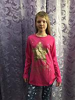 Подростковый реглан для девочки со звездой, фото 1