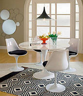 Стол Tulip (Тулип) круглый белый 100 см стеклопластик дизайн Eero Saarinen, Бесплатная доставка