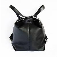 Женская сумка-рюкзак черный из кожзама М97-47/лак