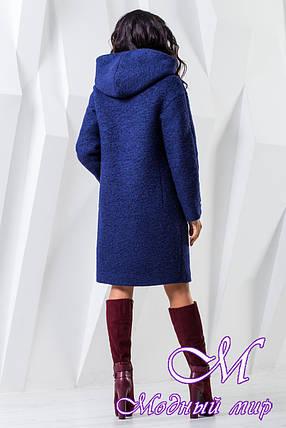 Женское осеннее пальто с капюшоном (р. 44-62) арт. 981 Тон 34, фото 2