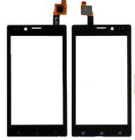 Сенсор (тачскрин) для Sony ST26i Xperia J черный