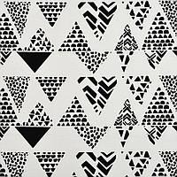 ✁ Отрез хлопковой ткани Треугольники принт 100х80 см, фото 1