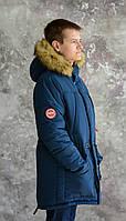 Зимняя куртка-парка на меху для подростков по цене от производителя.