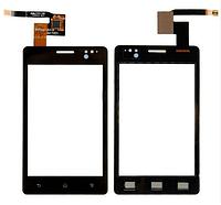 Сенсор (тачскрин) для Sony ST27i Xperia Go черный