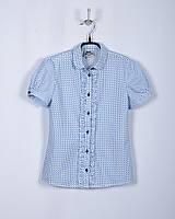 BoGi. Блуза для дівчинки блакитний горох короткий рукав.102.018.0278.01
