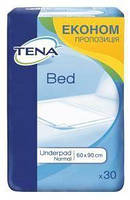 Пеленки одноразовые впитывающие Tena Bed Normal 60*90 30 шт Тена