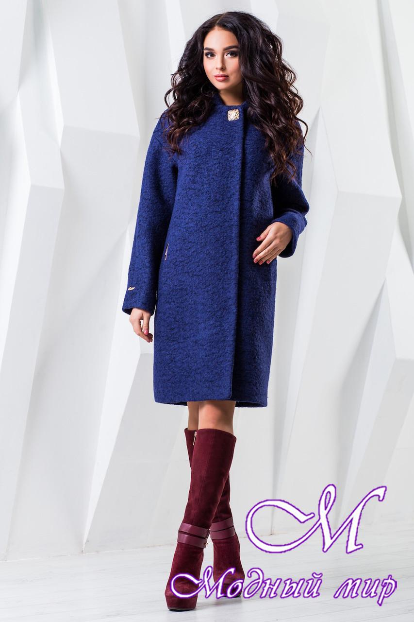 Осеннее женское пальто большого размера (р. 44-62) арт. 981 Тон 34