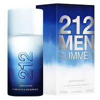 Carolina Herrera  212 Men Summer Limited Edition edt 100 ml (Мужская туалетная вода)