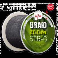 Шнур Carp Zoom Braid Zoom STR-G braided line 1500m (темно-серый)