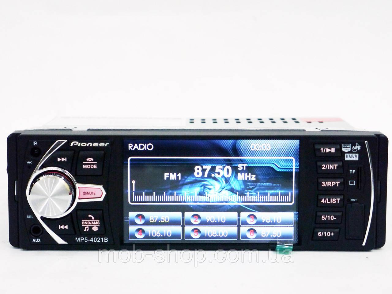 "Автомагнитола пионер Pioneer 4021B 4""+Bluetooth+Видео вход"