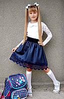 """Детская стильная юбка 3552 """"Стёганка Клёш Мулине"""" в школьных расцветках"""