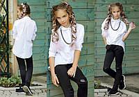 """Детская стильная блузка-рубашка 289 """"Коттон Цепочка"""" в расцветках"""