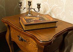 Деревянная прикроватная тумба (столик)