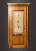 Витражная деревянная дверь