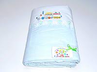 Защита для детской кроватки (голубой с паровозиком)