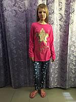 Подростковые лосины с сердечками для девочки 134 см, фото 1