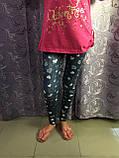 Подростковые лосины с сердечками для девочки 134 см, фото 2