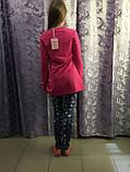 Подростковые лосины с сердечками для девочки 134 см, фото 3