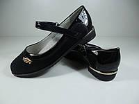 Туфли школьные для девочек W-niko черные Размер: 31-37