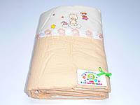Защита для детской кроватки (оранжевая с мишкой)
